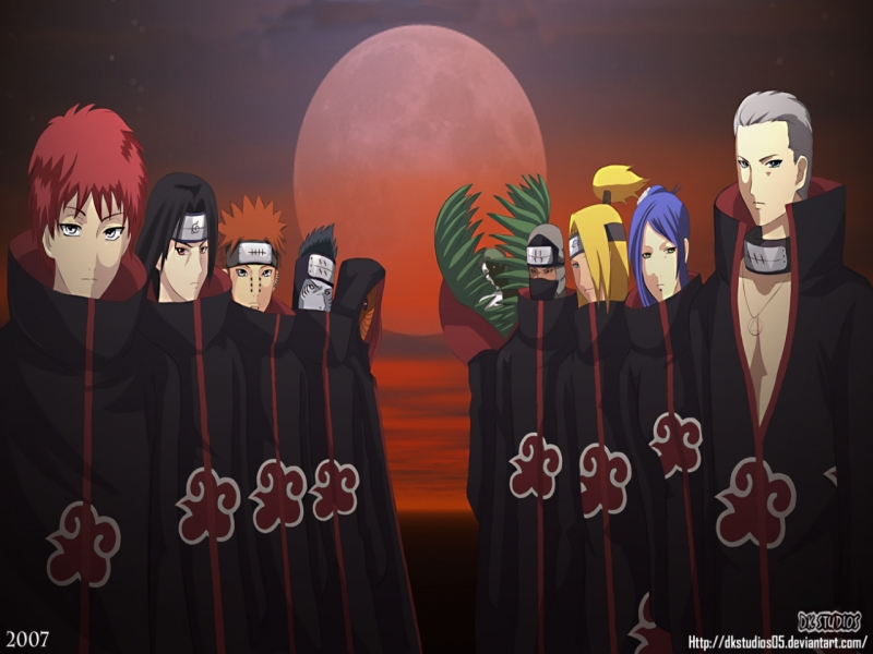 ALL THE MEMBERS FROM AKATSUKI BACK THEN